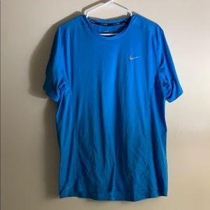 Nike Running Blue Short Sleeve Dri-Fit Tee